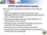 cpuc jurisdictional issues