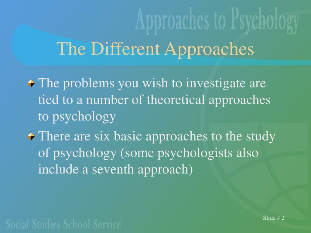 theoretical approahes to psychology