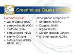 greenhouse gases ghgs