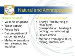 natural and anthropogenic