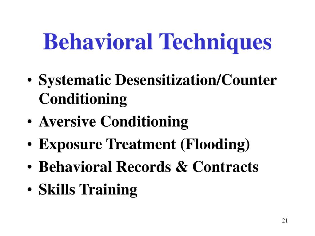 Behavioral Techniques