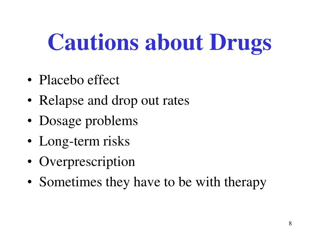 Cautions about Drugs