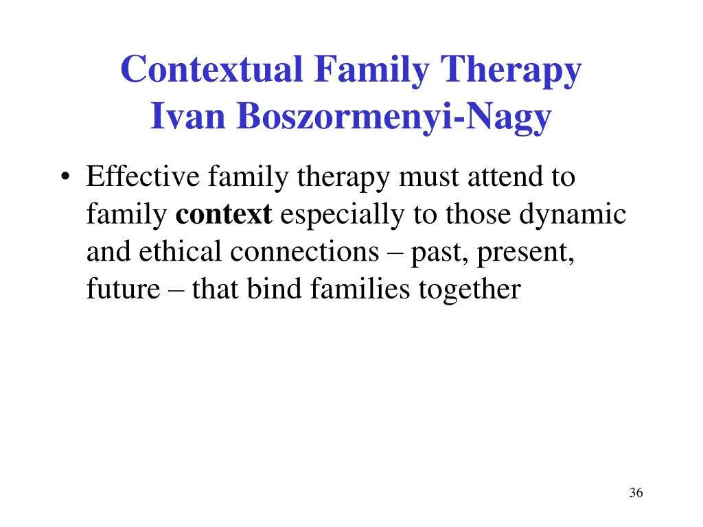 Contextual Family Therapy