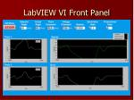 labview vi front panel