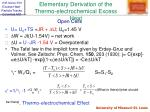 elementary derivation of the thermo electrochemical excess heat