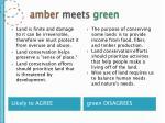 amber meets green