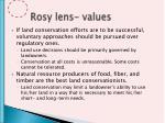 rosy lens values