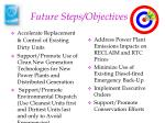 future steps objectives