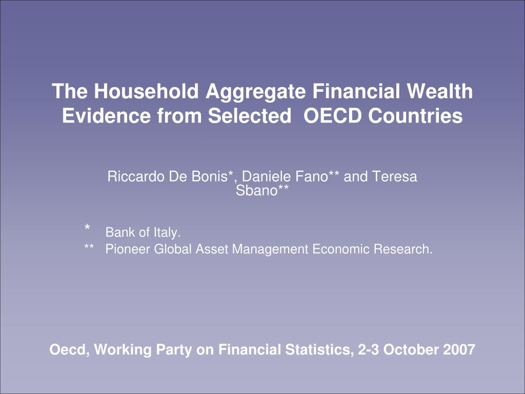 the household aggregate financial wealth evidence from selected oecd countries l.
