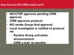 how does the nci cirb model work