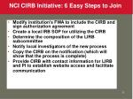 nci cirb initiative 6 easy steps to join