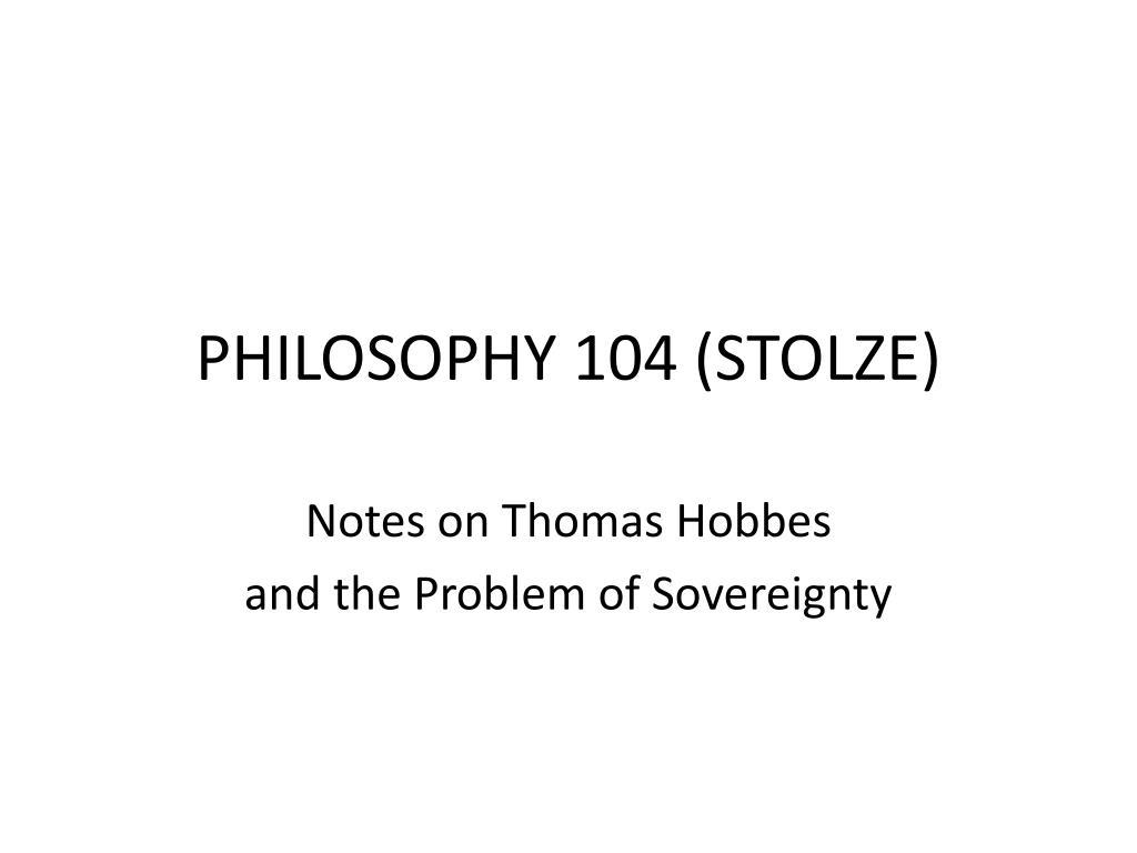 philosophy 104 stolze l.