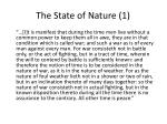 the state of nature 1