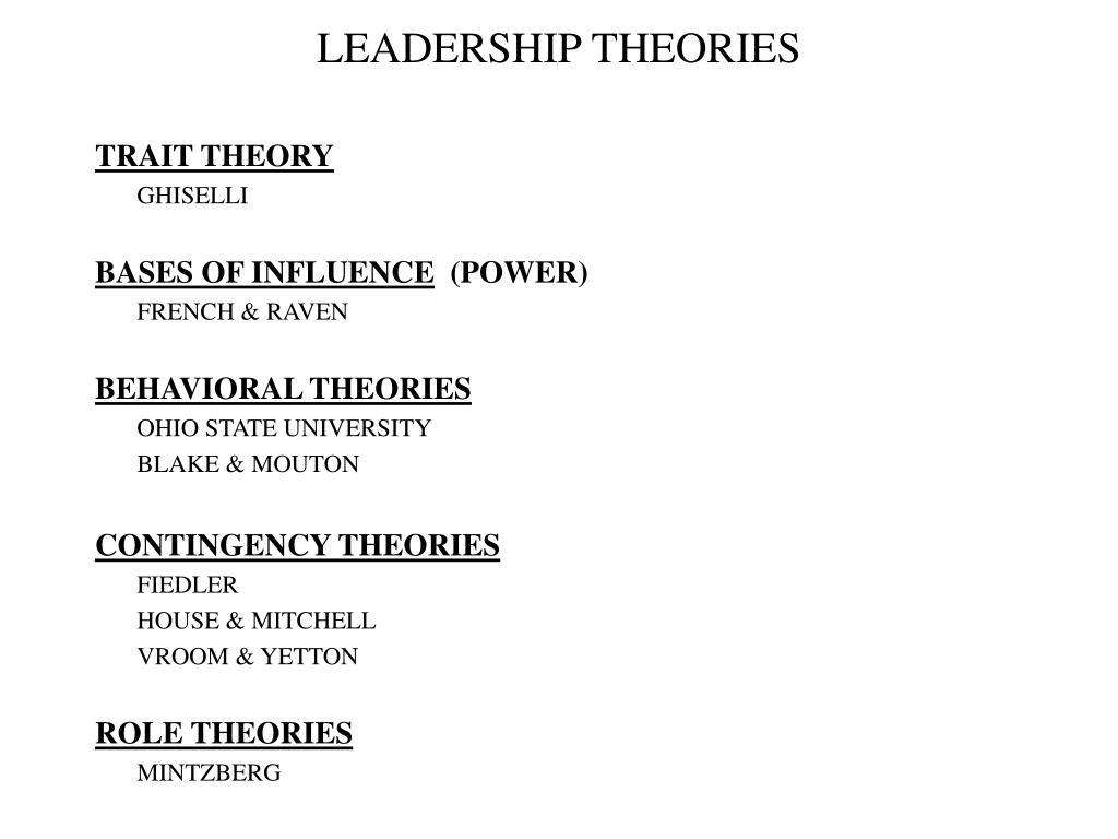 leadership theories l.