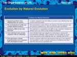 evolution by natural evolution