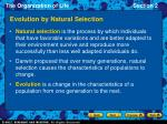 evolution by natural selection6