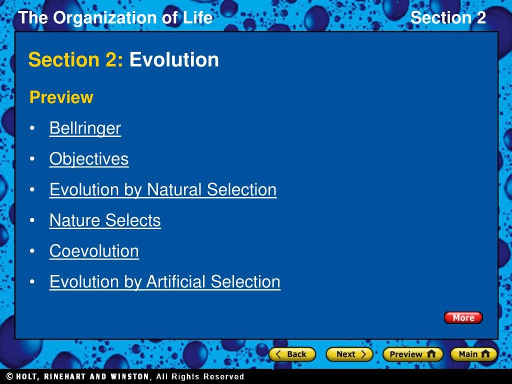 section 2 evolution l.