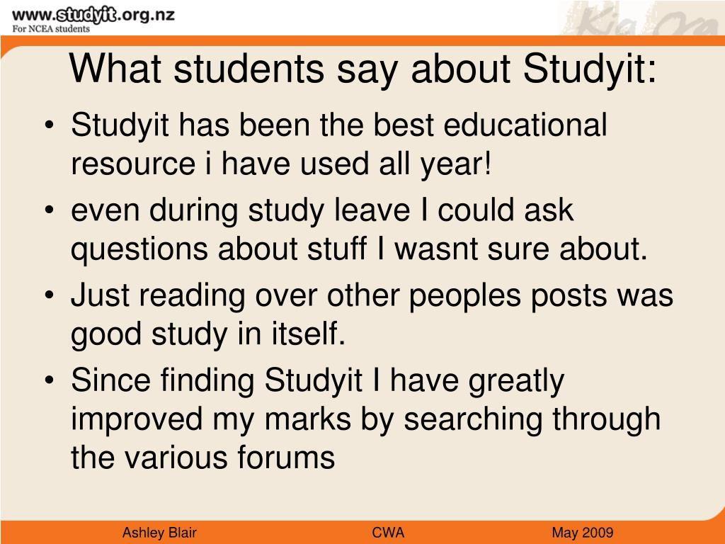 What students say about Studyit: