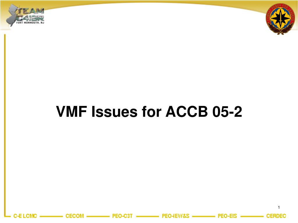 vmf issues for accb 05 2 l.