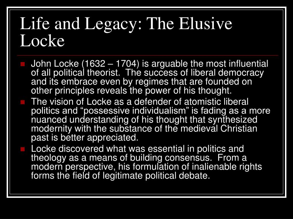 Life and Legacy: The Elusive Locke