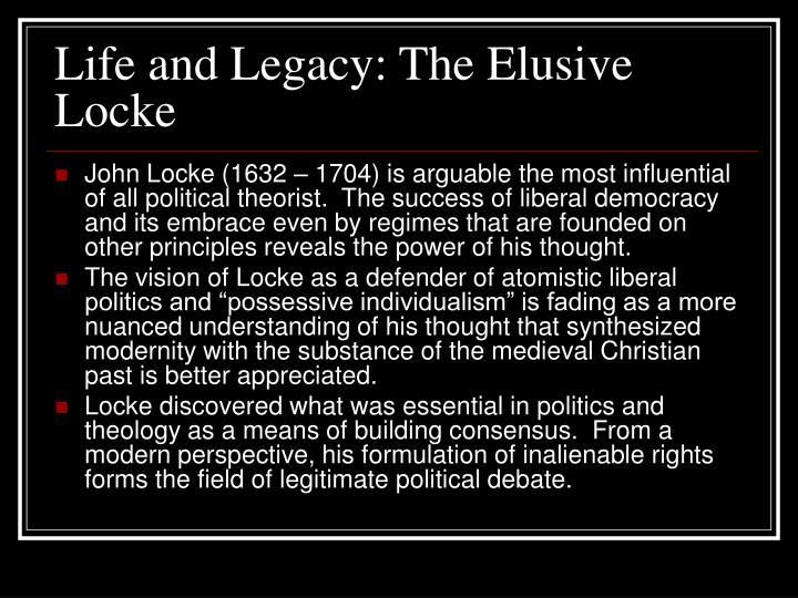 Life and legacy the elusive locke