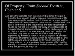 of property from second treatise chapter 5