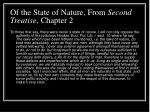 of the state of nature from second treatise chapter 2