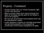 property continued