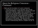 quest for religious consensus continued29