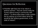 questions for reflection13