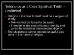 tolerance as a core spiritual truth continued34