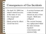 consequences of gas incidents