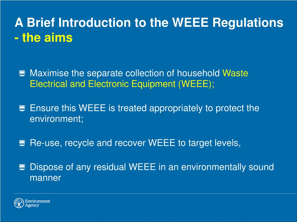 A Brief Introduction to the WEEE Regulations