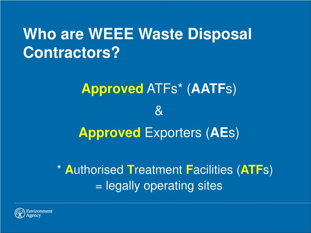 Who are WEEE Waste Disposal Contractors?