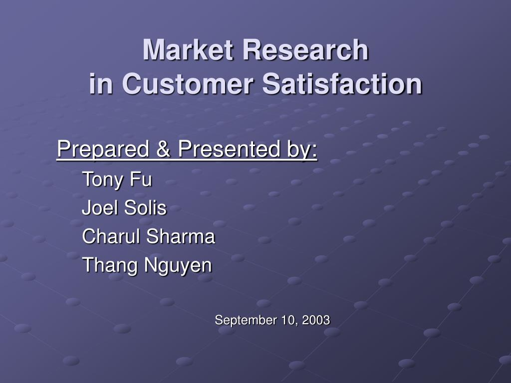 market research in customer satisfaction l.
