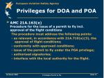 privileges for doa and poa11