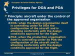 privileges for doa and poa5