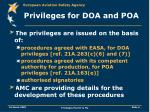 privileges for doa and poa6