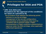 privileges for doa and poa7