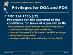 privileges for doa and poa9