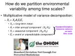 how do we partition environmental variability among time scales30