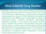 about indiabulls group mumbai