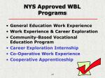 nys approved wbl programs