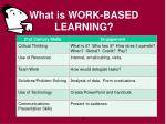 what is work based learning