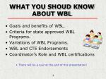 what you shoud know about wbl