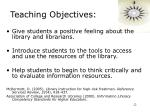 teaching objectives22
