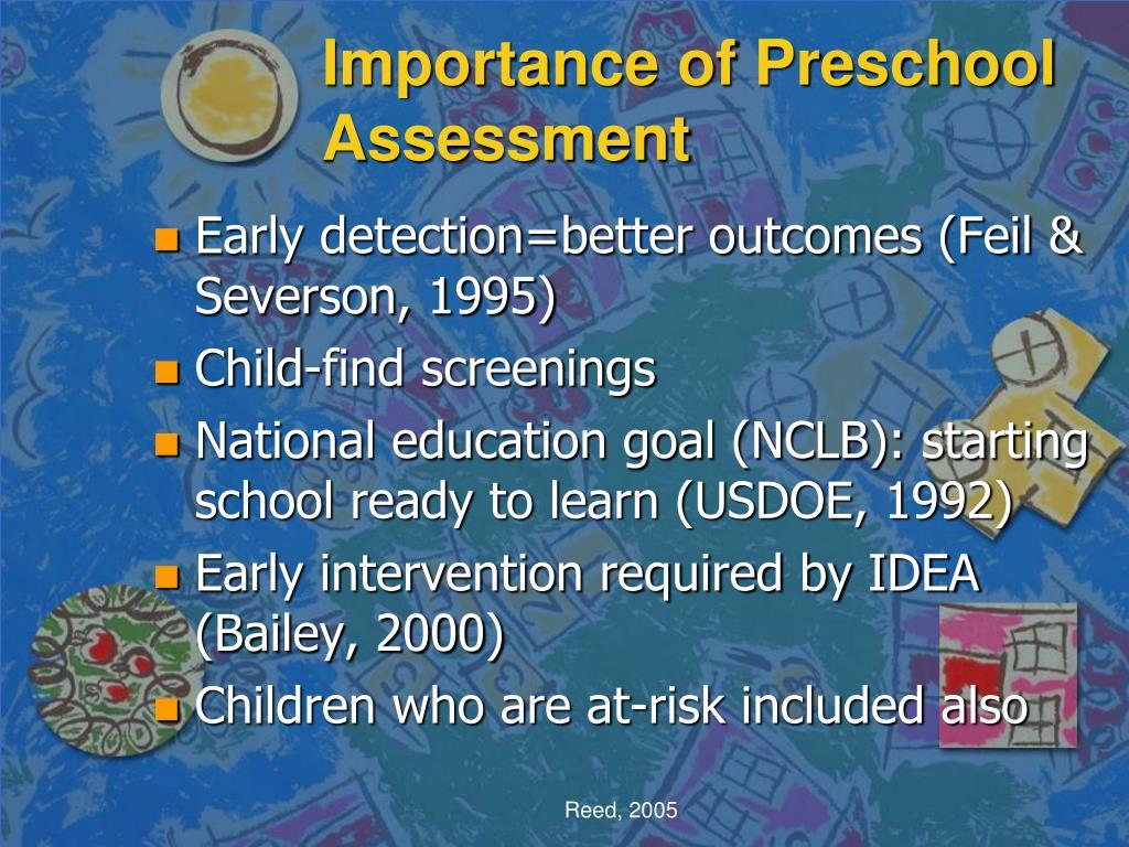 Importance of Preschool Assessment