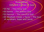 17 biblical mandate for evangelism different names of god