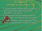 19 biblical mandate for evangelism different world views of god