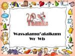 wassalamu alaikum w r w b